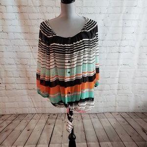 Lane Bryant striped blouse NWT sz 14/16